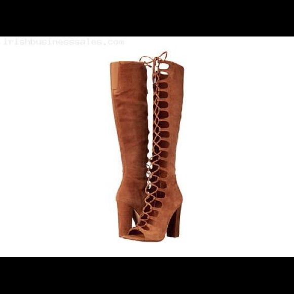 604d58cac7c Kendall   Kylie Emma boot lace up knee high